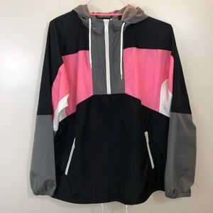 UO 90's Color Block Anorak Windbreaker Jacket